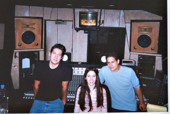 Art, Majandra and Anthony in the Studio